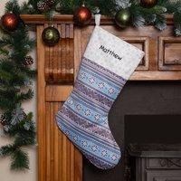 Personalised Christmas Stocking 'Fair Isle'