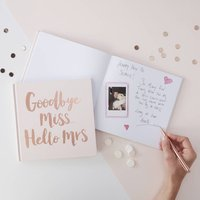 Pink And Rose Advice For The Bride Keepsake Book