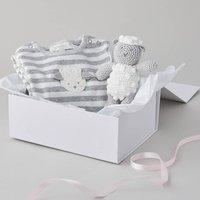 Hand Crochet Lamb Baby Gift Set