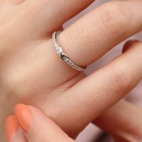 Sterling Silver And Crystal Infinity Ring, Silver