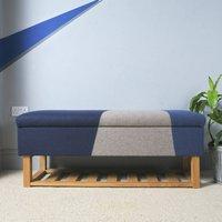 Bespoke Fabric Covered Storage Bench With Shoe Shelf