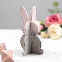 Concrete Colour Block 3D Easter Bunny