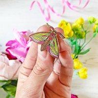 Hawk Moth Enamel Pin