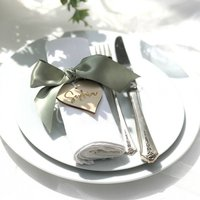 Personalised Wooden Heart Place Card Setting Favour