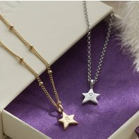 Personalised Star Necklace In Silver, Gold Or Rose Gold, Silver