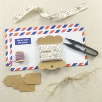 Gift Wrapping Ribbon Set For Lovers Of Travel