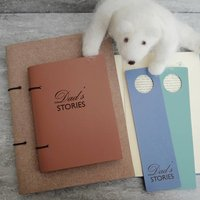 Personalised Leather Story Book Journal