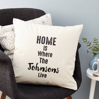 Personalised Family Home Cushion