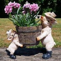 Country Pig Garden Planter