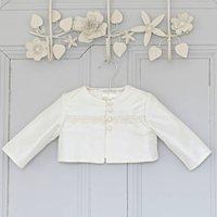 Oliver Boys Ivory Silk Christening Jacket