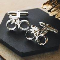 Silver Cycling Cufflinks, Silver