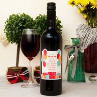 Personalised Wine With Custom Happy Birthday Label