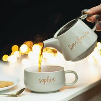 Personalised Teapot And Cup Set For One