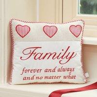 Family Hearts Keepsake Scatter Cushion