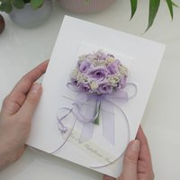 Special Mum Personalised Rose Bouquet Card, Lilac/Pale Pink/Pink