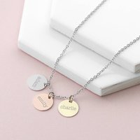 Personalised Family Name Disc Necklace Gift