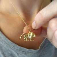 Baboon Necklace With Ruby Bottom