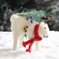 Polar Bear With Tree And Lights