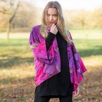 Sweet Pea Print Lightweight Viscose Kimono Top
