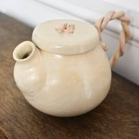Ceramic Tea Pot In Peach