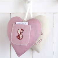 Personalised Tooth Fairy Heart, Pink/Cream