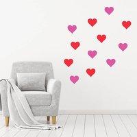 Valentine's Hearts Decoration Wall Sticker