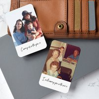 Personalised Photo With Text Metal Wallet Card