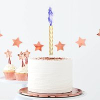 Rose Gold Blue Flame Cake Fountains Three Pack