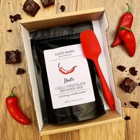 Personalised Chilli Brownie Gift Box With Spoon