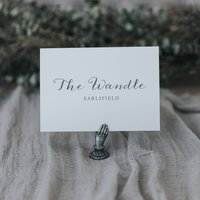Anna Table Number And Name Cards