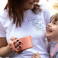 Personalised Three Generations Hand Embroidered Tshirt