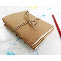 Set Of Three Mini Kraft Sketch And Notebooks