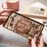 'Sorry You Got Old' Honeycomb Chocolate Slab
