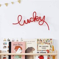 'Lucky' Wire Word Sign For Kids Room