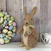 Brown Bristle Easter Bunny Decoration