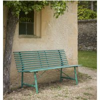 Green Steel Garden Bench