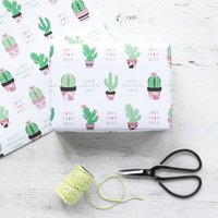 Personalised Cactus Christmas Wrapping Paper