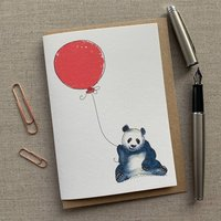 Personalised Panda Birthday Card