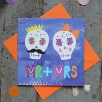 Mr And Mrs Rock And Roll Wedding Card