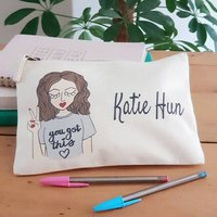 Personalised Create Your Own Positive Vibes Pencil Case