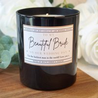 Bride From The Groom Personalised Wedding Candle Gift