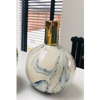 Blue Marble Effect Vase Small
