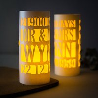 60th Anniversary Diamond Wedding Luminary Centrepiece