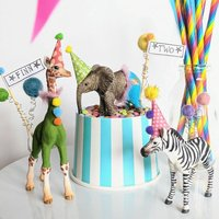 Personalised Party Animal Circus Cake Toppers