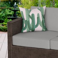 Cactus Desert Pink Water Resistant Outdoor Cushion