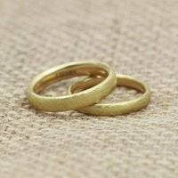His And Hers Court Profile 18ct Gold 'Glendey' Bands, Gold