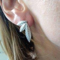 Mismatched Leaf Earrings