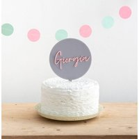 Personalised Birthday Name Disc Cake Topper