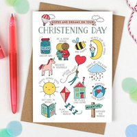 Boys Christening Card Hopes And Dreams