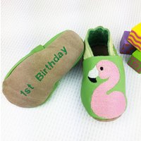 Personalised Flamingo Shoes, Mulberry/Purple/Light Pink